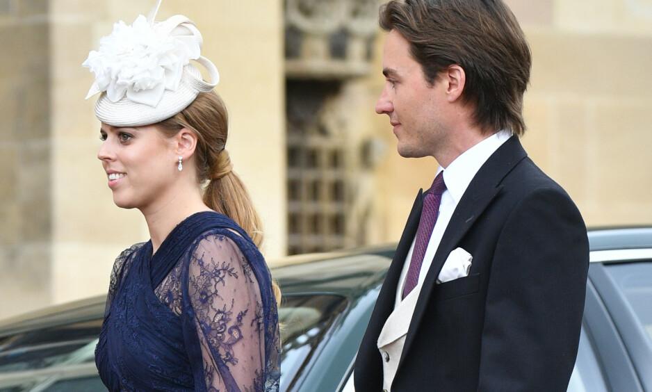 <strong>FORELSKET:</strong> Prinsesse Beatrice og kjæresten Edoardo skal angivelig være klare til å ta forholdet til det neste steget. Her avbildet i mai. Foto: NTB Scanpix