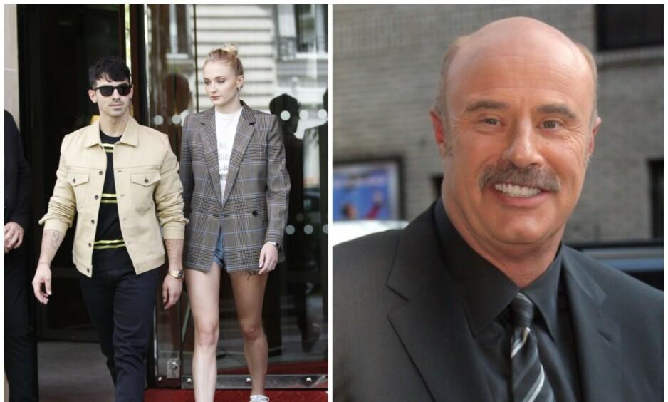 <strong>BRYLLUPSFEST?:</strong> I en kommentar på Instagram kan Dr. Phil ha avslørt superparet Joe Jonas og Sophie Turners planer om en storslått bryllupsfeiring i Paris. Foto: NTB Scanpix