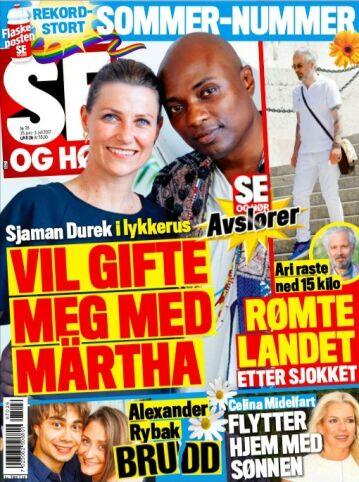 AVSLØRER BRUDDET: Det er i tirsdagens utgave av Se og Hør at Alexander Rybaks brudd blir kjent. Foto: Faksimile