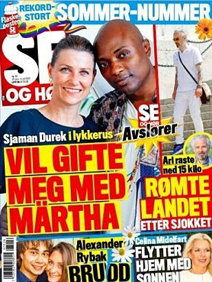 FLYTTER HJEM: Du kan lese mer om Celina Midelfart i tirsdagens utgave av Se og Hør. Foto: Faksimile