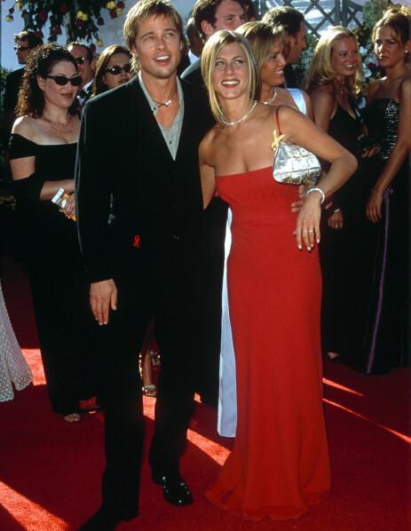 POPULÆRT PAR: Brad Pitt og Jennifer Aniston var gift fra 2000 til 2005. Her er paret avbildet i 2000. Foto: NTB scanpix
