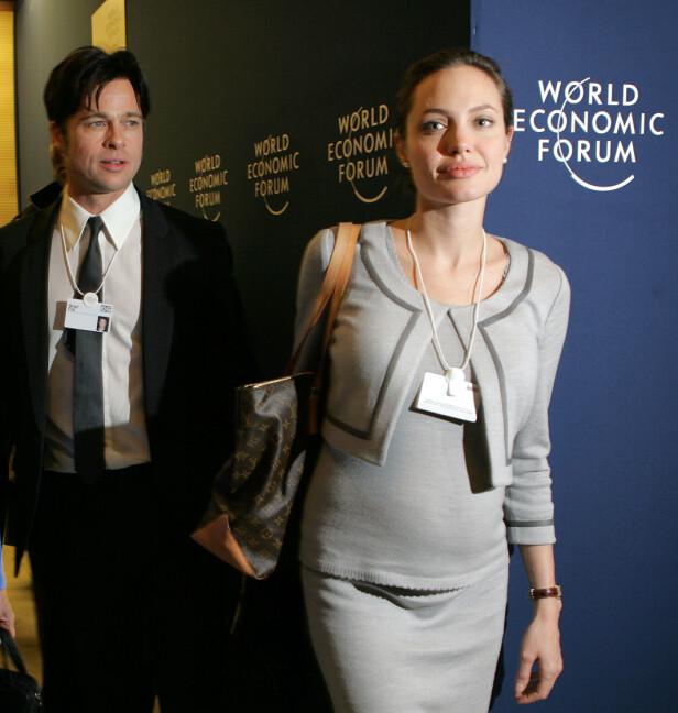 GRAVID: I januar 2006 bekreftet representanten til Angelina Jolie at hun var gravid. Kun noen få måneder senere, i mai 2006 kom datteren Shiloh Nouvel til verden. Foto: NTB scanpix