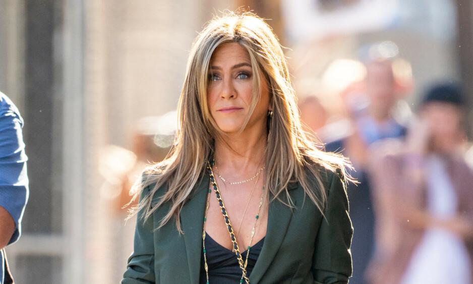REAGERTE MED TÅRER: Hollywood-stjernen Jennifer Aniston skal ha blitt oppløst i tårer da hun fikk nyss om at eksmannen Brad Pitt og Angelina Jolie ventet barn. Foto: NTB scanpix