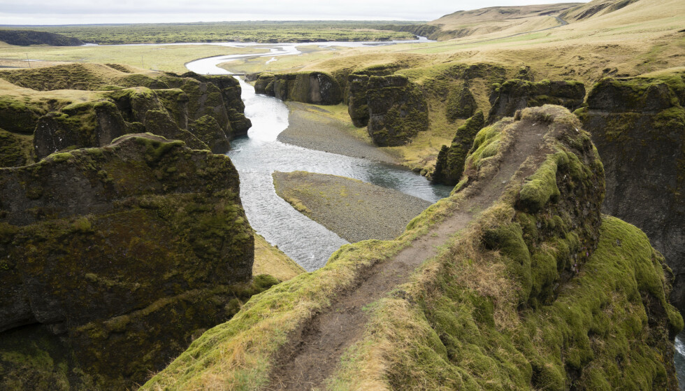 TREKKPLASTER: Fjadrárgljúfur er blitt et yndet turistmål på Island etter at Justin Bieber spilte inn musikkvideoen til låta «I'll Show You» her. Foto: Egill Bjarnason/ AP/ NTB scanpix