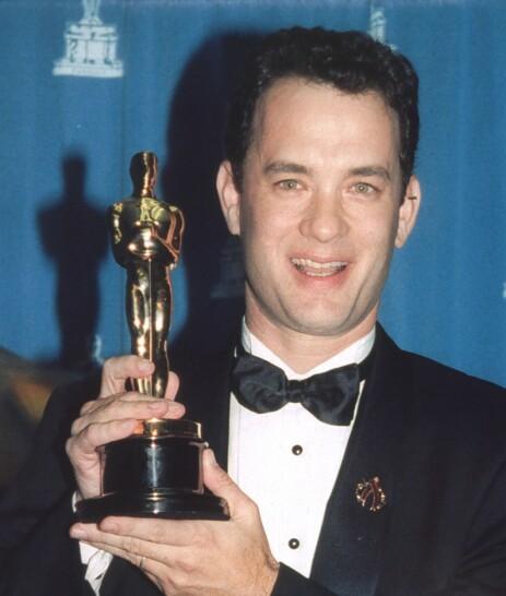 OSCAR: Tom Hanks har to Oscar-statuetter stående hjemme – en for «Philadelphia» og en for «Forrest Gump». Foto: NTB Scanpix