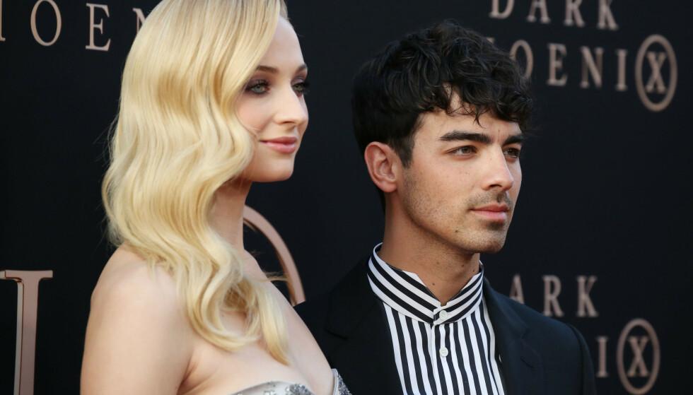 OVERRASKET: Sophie Turner og Joe Jonas giftet seg i Las Vegas i mai. Foto: NTB Scanpix
