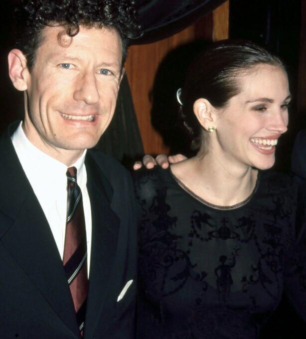 KORTVARIG AFFÆRE: Ekteskapet mellom Julia Robers og Lyle Lowett tok slutt etter 21 måneder som ektefeller. Her er stjerneduoen avbildet i 1993. Foto: NTB Scanpix