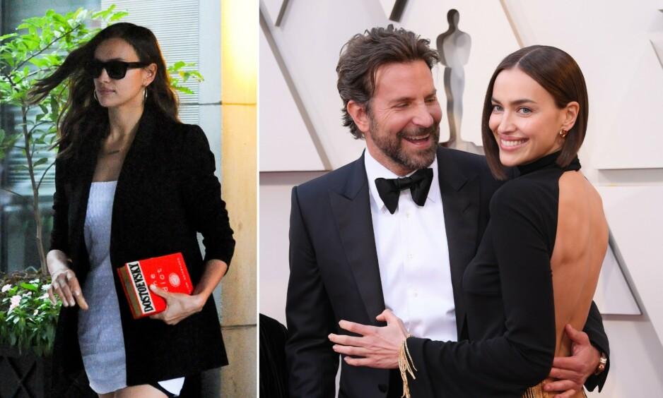 BRUDD: Tidligere denne måneden ble det kjent at Bradley Cooper og Irina Shayk går hver til sitt. Ingen av dem har kommentert bruddet, men nå tolkes detaljen på de nyeste bildene av modellen som et stikk mot eksen. Foto: NTB Scanpix