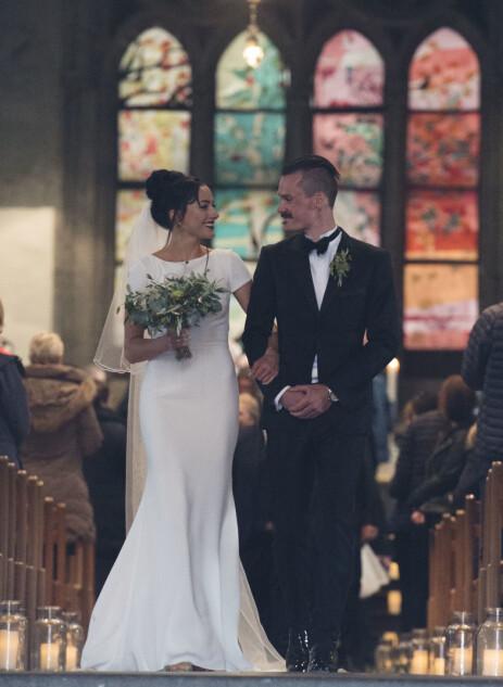 LYKKELIGE: Henrik og Liva Ingebrigtsen giftet seg i Stavanger i april i fjor. Foto: Anders Martinsen / Se og Hør