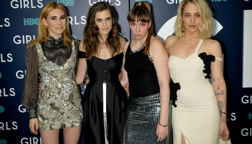 <strong>HBO-SUKSESS:</strong> Williams er kjent fra TV-serien «Girls». Her på sesongpremiere med resten av hovedrolleinnhaverne. Foto: NTB Scanpix.