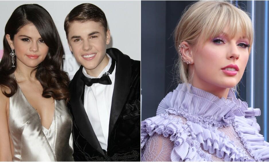 STÅR I STORMEN: De siste dagene har det stormet rundt Taylor Swift, etter et innlegg hun delte på Tumblr. Nå spekulerer fansen i om hennes beste venninne, Selena Gomez, ble bedratt av ekskjæresten Justin Bieber da de var sammen. Foto: NTB Scanpix