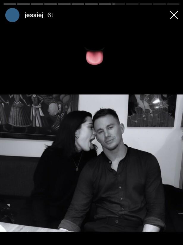 FLØRTER: Jessie J og Channing Tatum er blitt et populært par siden de først ble koblet til hverandre i oktober i fjor. Foto: Skjermdump fra Instagram