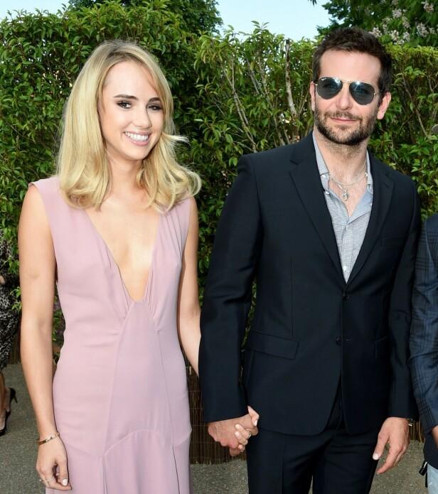 ALDERSFORSKJELL: Forholdet mellom Bradley Cooper og Suki Waterhouse vakte stor oppsikt da aldersforskjellen mellom dem var på hele 17 år. Foto: NTB Scanpix