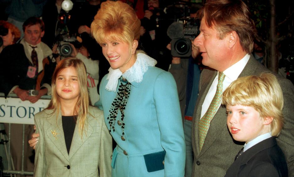 DEN GANG DA: Ivana Trump er mor til tre av Donald Trumps barn, Ivanka, Eric og Donald Trump jr. Her i 1993. Foto: NTB Scanpix