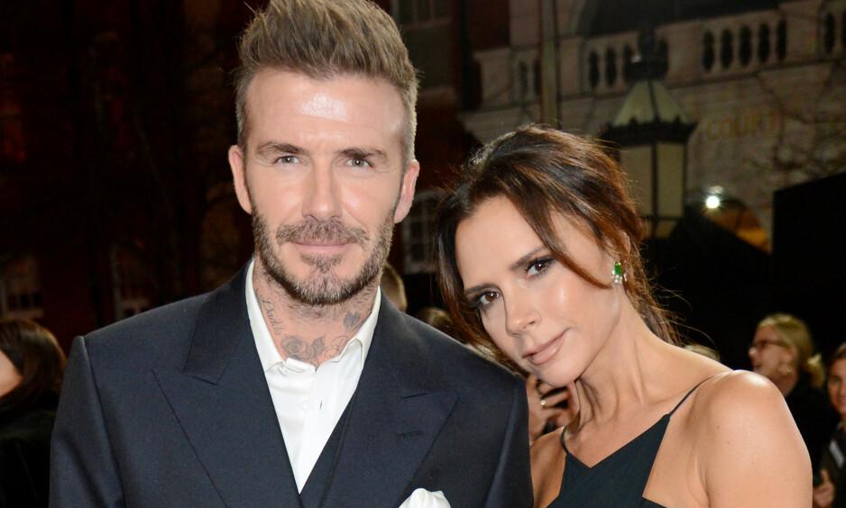 SLO PÅ STORTROMMA: Den tidligere fotballspilleren David Beckham sparte ikke på kruttet da han skulle overraske kona, Victoria Beckham, på deres 20 års bryllupsdag. Foto: NTB scanpix