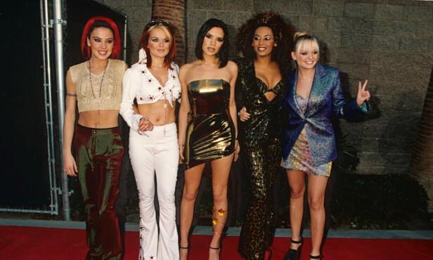 <strong>LEGENDARISK GRUPPE:</strong> Spise Girls i 1997. I år ble de gjenforent - uten Victoria Beckham. Foto: NTB Scanpix