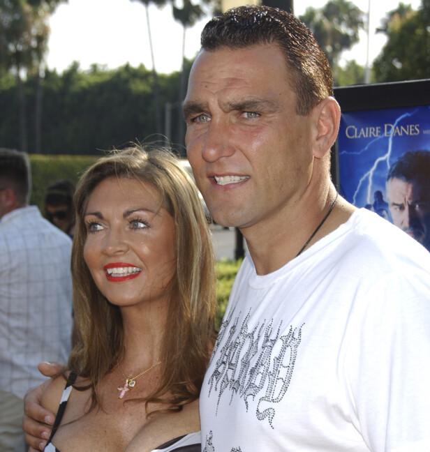 STJERNEPAR: Tanya og Vinnie sammen i 2013. Sistnevnte har beskrevet kona som sin perfekte match. Foto: NTB Scanpix
