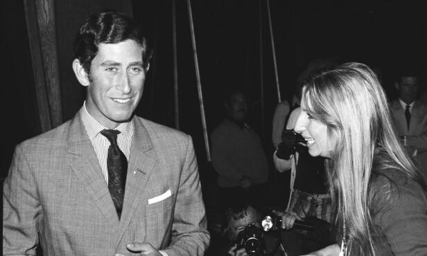 DET FØRSTE MØTET: Prins Charles møtte Barbra Streisand for første gang i 1974. Foto: NTB Scanpix