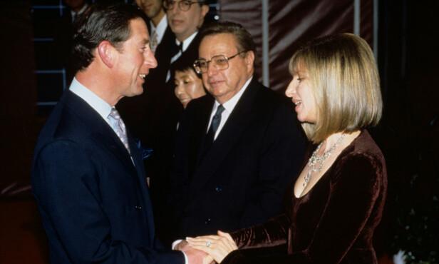 GOD STEMNING: Duoen så ut til å trives i hverandres selskap da de møttes under veldedighetskonserten i 1994. Foto: NTB Scanpix