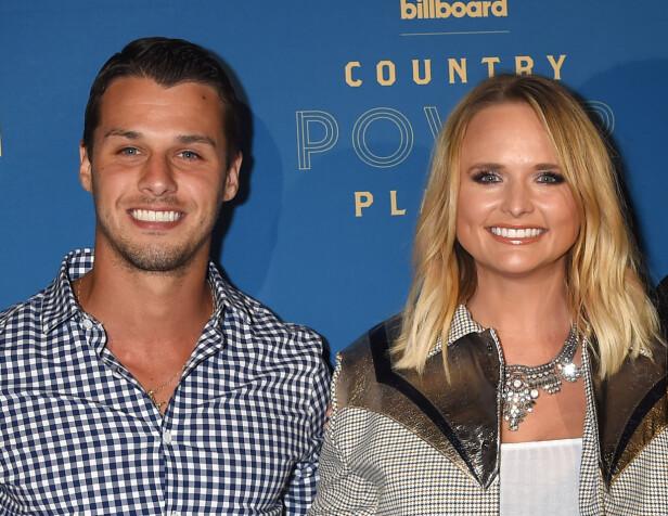 EKTEPAR: Miranda Lambert og Brendan McLoughlin under Billboard-utdelingen for countrymusikk i år. Foto: NTB Scanpix
