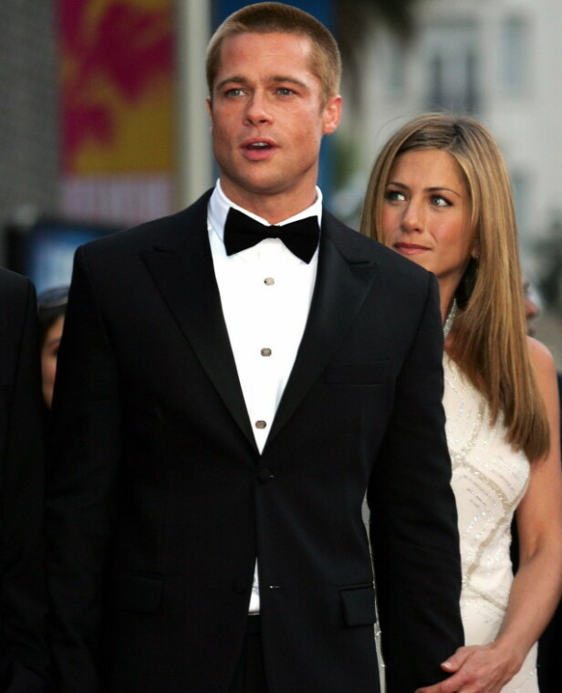 DEN GANG DA: Jennifier Aniston og Brad Pitt var et verdens hotteste par på starten av 2000-tallet. Nå kommer det frem nye detaljer om forholdet deres. Foto: NTB Scanpix