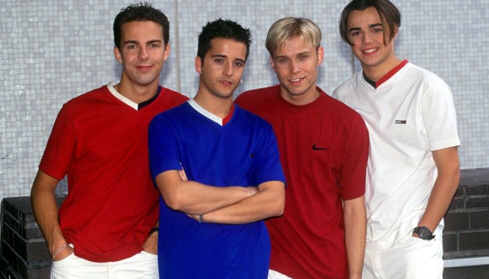 <strong>REUNION:</strong> Nå skal alle fire medlemmene av boybandet A1 opptre sammen igjen for første gang på 16 år. Her fra glansdagene. Foto: NTB Scanpix