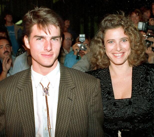 ALDERSFORSKJELL: Etter skilsmissen mellom Tom Cruise og Mimi Rogers ble det spekulert i om aldersforskjellen på syv år var bakgrunnen for at de skilte lag. Foto: NTB Scanpix