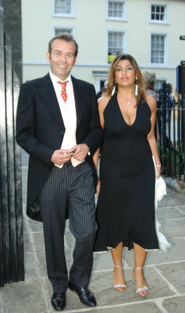 <strong>MISTET DATTEREN:</strong> Ben Goldsmith mister nylig datteren. Her er han med en ukjent kvinne i 2003. Foto: NTB Scanpix