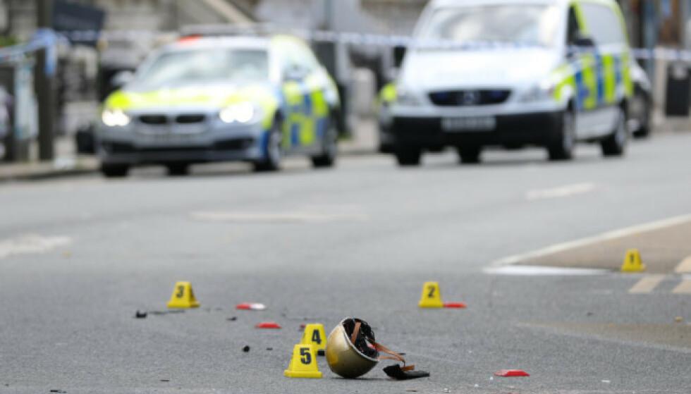ULYKKESSTEDET: Ulykkesstedet har blitt undersøkt av britisk politi. Foto: NTB Scanpix