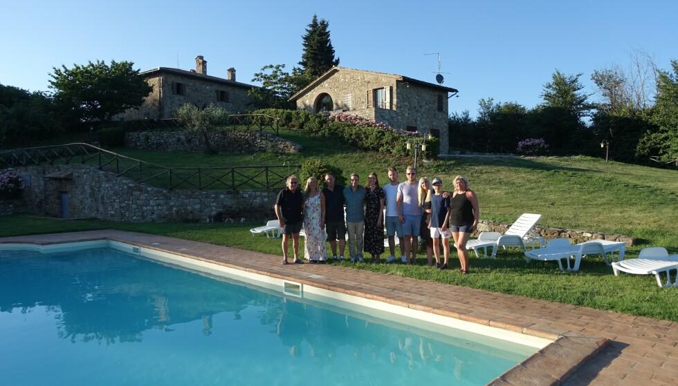 <strong>FAMILIEFERIE:</strong> Ingebrigtsen og familien nøt nylig solfylte dager i Italia. Foto: Privat.