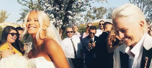 Internett-stjernen giftet seg i overdådig bryllup