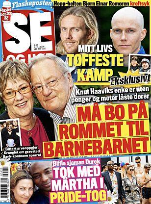 SNAKKER UT: Bjørn Einar Romøren forteller om kreftsykdommen i tirsdagens Se og Hør.
