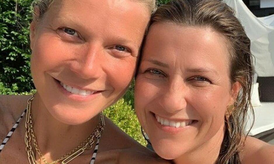 «A-LISTEN»: En rekke utenlandske medier har fattet interesse for Gwyneth Paltrow og prinsesse Märtha Louises bekjentskap, etter at sistnevnte publiserte dette bildet i sosiale medier på mandag. Foto: Skjermdump / Instagram