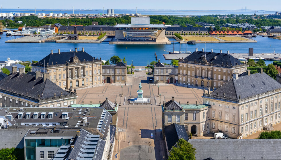 <strong>FIRE SLOTT:</strong> Amalienborg i København består av hele fire slott. Foto: Shutterstock/NTB Scanpix