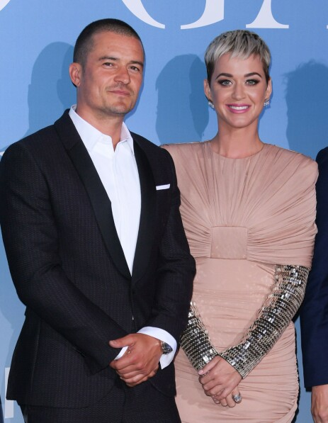 <strong>BRYLLUPSPLANER:</strong> Orlando Bloom og Katy Perry forlovet seg i februar. Nå snakker hun ut om bryllupsplanene i et nytt intervju. Foto: NTB Scanpix