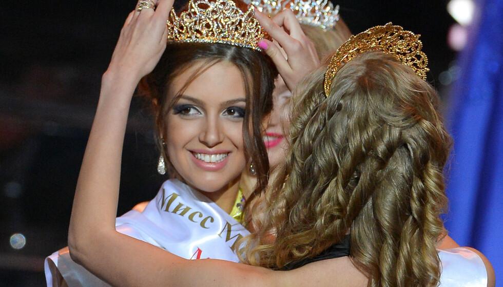 MISSEDRONNING: Rihana Oksana Voevodina, som nå har skiftet etternavn til Petra, ble i 2015 kåret til Miss Moscow. Nå er hun altså ekskongens hustru, om ikke ryktene om skilsmissen faktisk stemmer. Foto: NTB scanpix