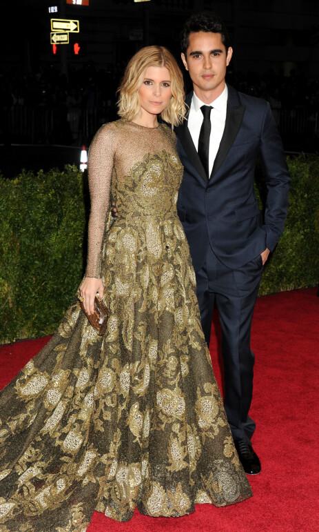 EKSKJÆRESTER: I fire år var Minghella i et forhold med Kate Mara. Her er de avbildet under en tilstelning i New York i 2014. Foto: NTB Scanpix