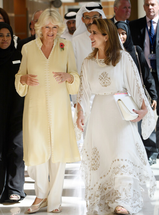 <strong>STASELIGE VENNER:</strong> Prinsesse Haya bint al-Hussein har møtt hertuginne Camilla en rekke ganger. Foto: NTB Scanpix