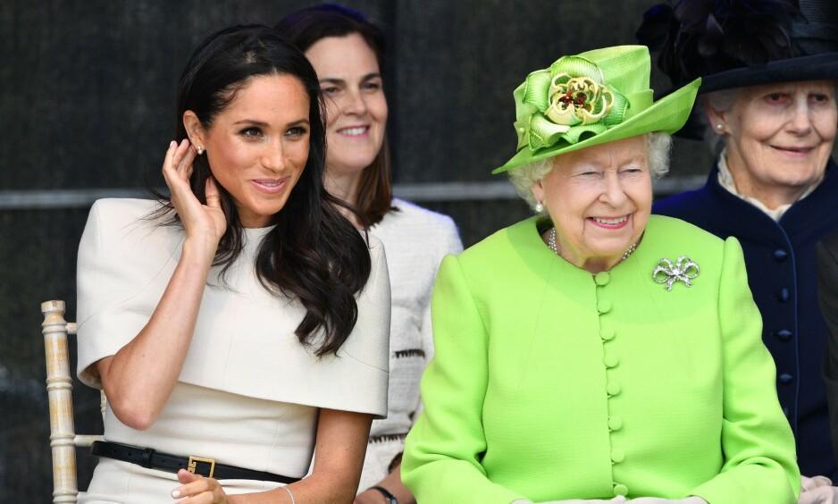 TRØBBEL: Hertuginne Meghan skal ha tatt dronning Elizabeths forbud om å ikke få kjæledyr svært tungt. Foto: NTB Scanpix
