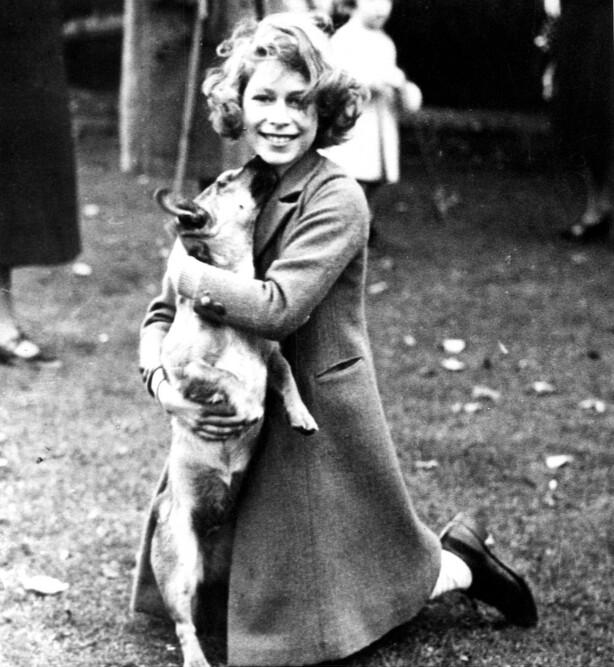 HUNDEELSKER: Dronning Elizabeth var 18 år gammel da hun fikk sin første hund. Foto: NTB Scanpix