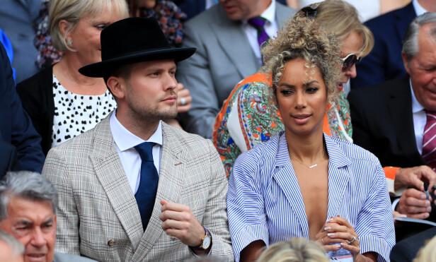 PÅ WIMBLEDON: Her er superparet under årets Wimbledon-turnering i London i juli. Foto: NTB Scanpix