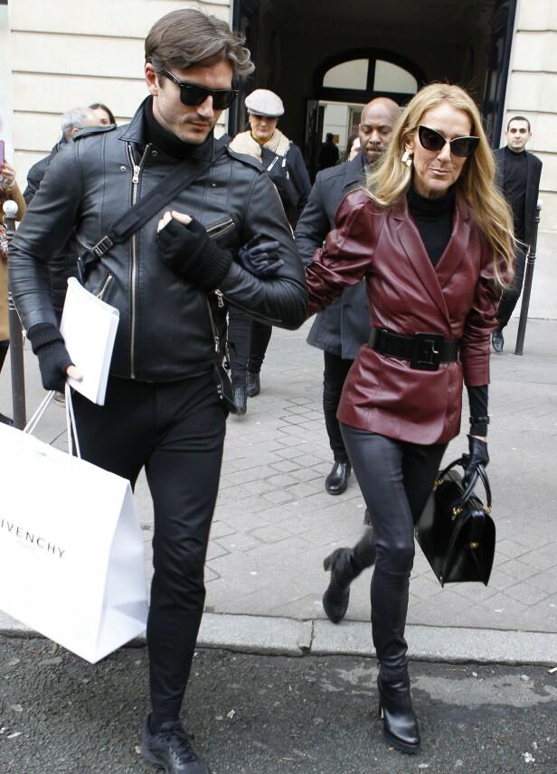 ISOLERER HENNE: En kilde hevder at Pepe prøver å ta kontroll over livet til den verdenskjente sangstjernen Céline Dion. Her er de avbildet sammen i Paris tidligere i år. Foto: NTB Scanpix