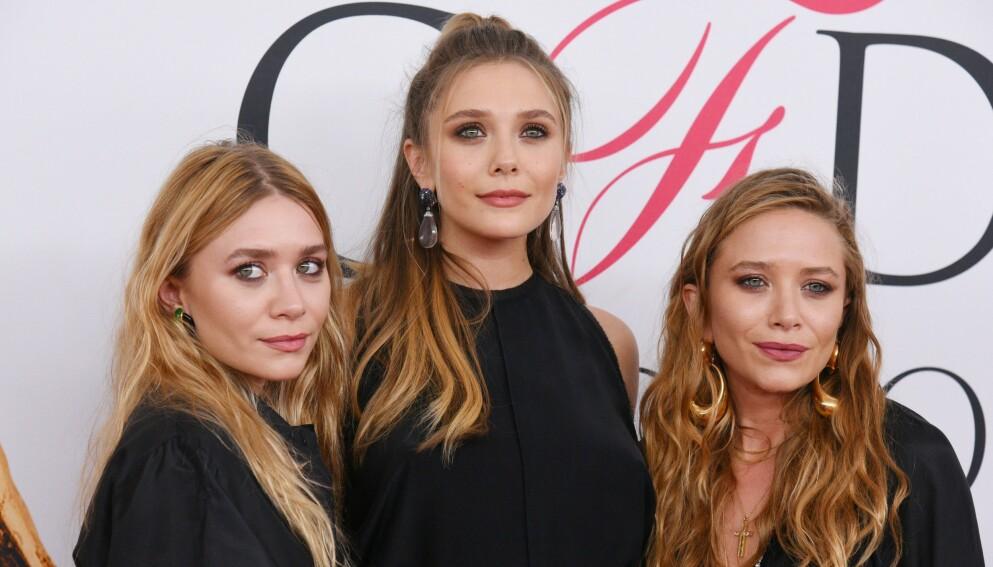 BERØMT TRIO: Søstrene Mary-Kate Olsen, Elizabeth Olsen og Ashley Olsen har alle tre skapt seg store navn i Hollywood. Foto: Erik Pendzich/REX/NTB