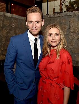 DATET: Elizabeth datet også medskuespilleren Tom Hiddleston, men forholdet skal bare ha vart i noen måneder. Foto: NTB Scanpix