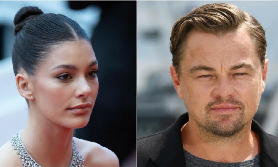 <strong>STOR ALDERSFORSKJELL:</strong> Det skiller 22 år mellom supermodellen Camila Morrone og Leonardo DiCaprio. Foto: AP/ NTB Scanpix