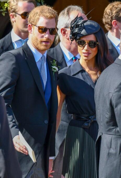 BRYLLUPSGJESTER: I fjor var Meghan og Harry gjester i bryllup på bursdagen til førstnevnte. Foto: NTB Scanpix