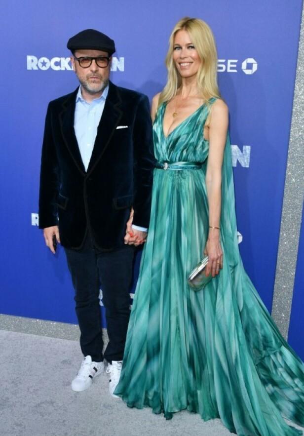 MANN OG KONE: Claudia Schiffer og Matthew Vaughn har vært gift siden 2002. Sammen har de tre barn. Foto: NTB Scanpix