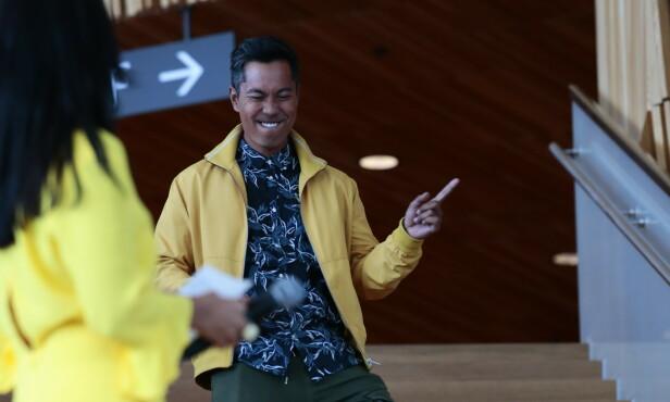 <strong>DANSEKLAR:</strong> NRK-profilen Christian Strand er vant til å være på TV. Nå skal han danse. Foto: NTB Scanpix