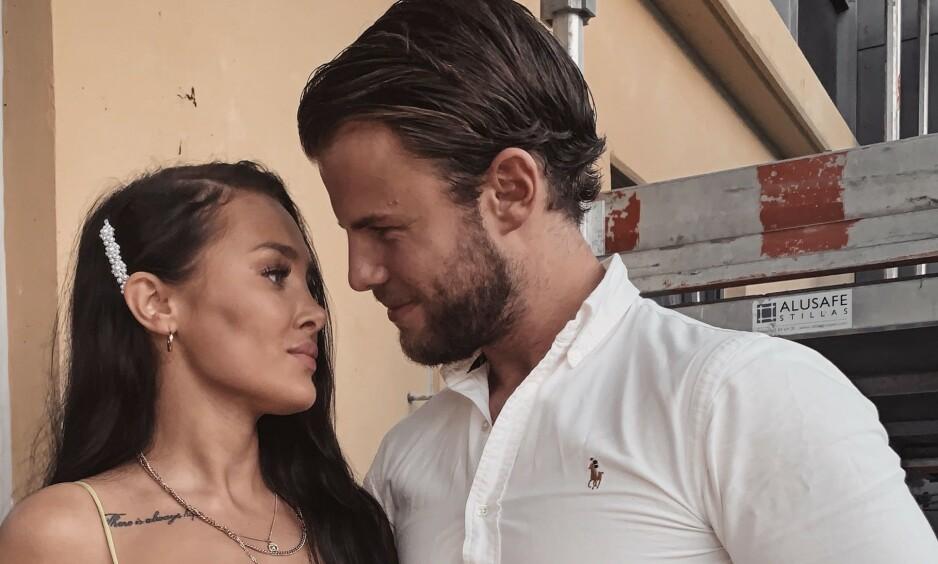 SAMBOERE: Bare noen måneder etter at Helene Hima og Simen Olsen avslørte forholdet, er de nå blitt samboere. Foto: Privat