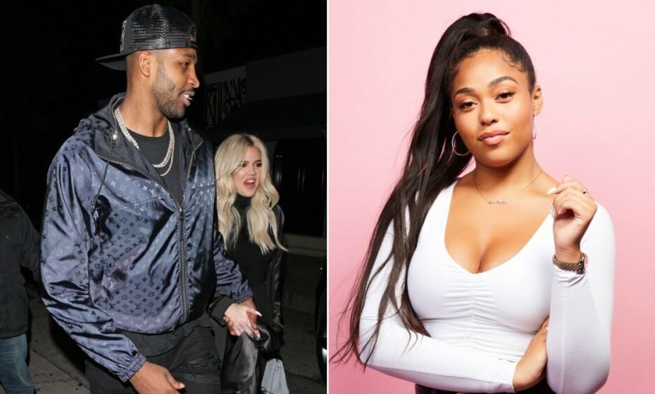 TREKANTDRAMA: I februar havnet Jordyn Woods i søkelyset, da hun kysset Khloé Kardashians daværende kjæreste, Tristan Thompson. Foto: NTB Scanpix